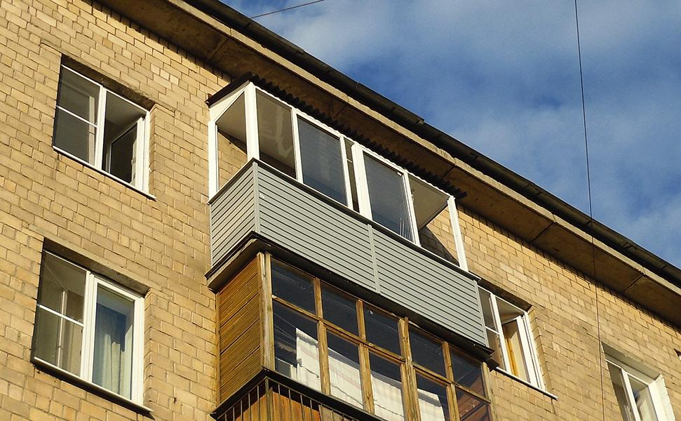 Наружная сторона балкона.