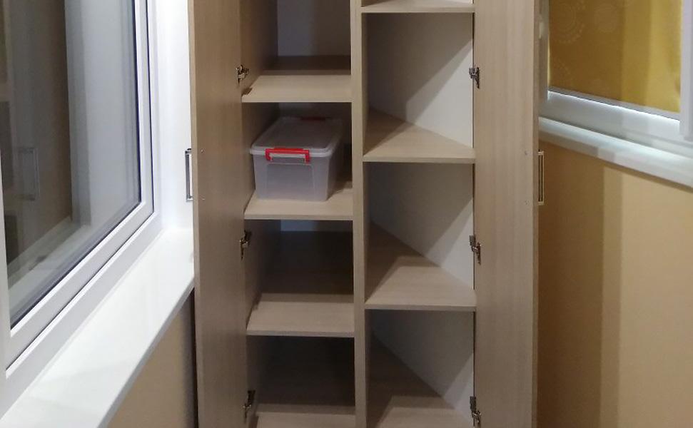 Купить шкафы из лдсп (дсп) на балкон под заказ - 7 вариантов.